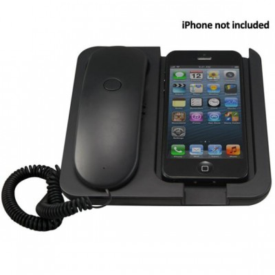 iPhone Handset and Telephone - Matt Black Finish